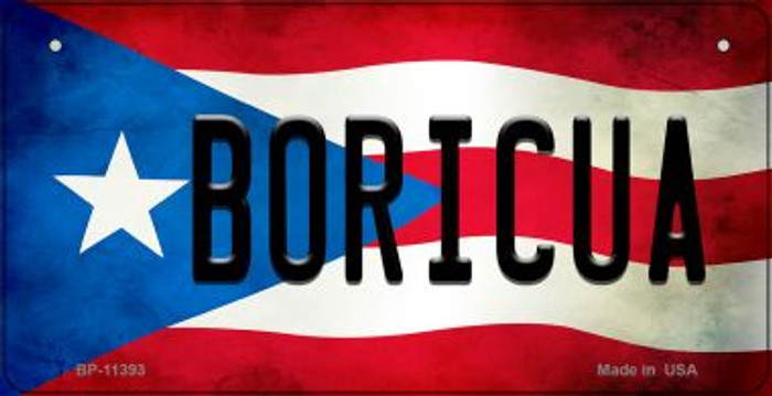 Boricua Puerto Rico State Flag Novelty Metal Bicycle Plate BP-11393
