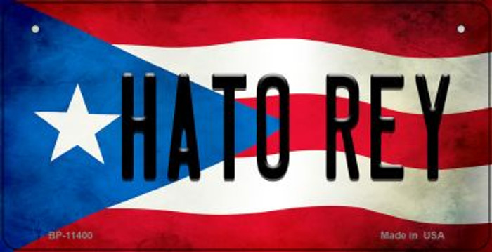 Hato Rey Puerto Rico State Flag Novelty Metal Bicycle Plate BP-11400