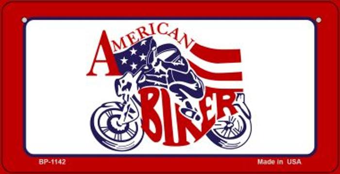 American Biker Novelty Metal Bicycle Plate BP-1142