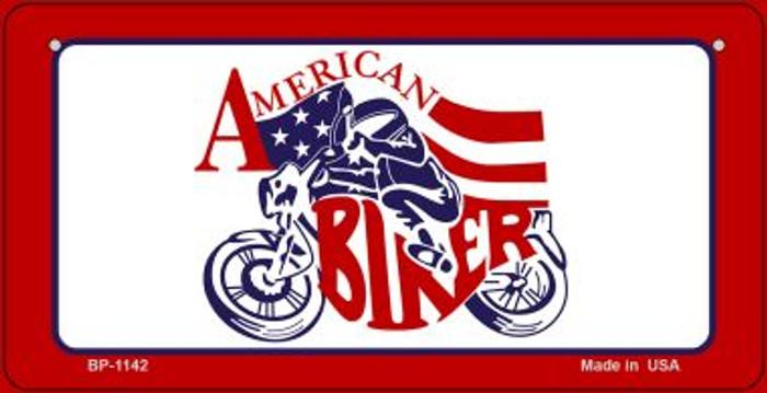 American Biker Novelty Metal Bicycle Plate BP-1142