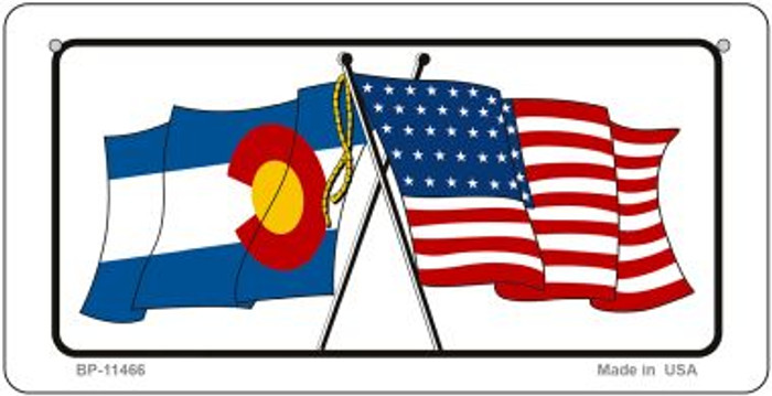 Colorado / USA Flag Novelty Metal Bicycle Plate BP-11466