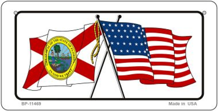 Florida / USA Flag Novelty Metal Bicycle Plate BP-11469