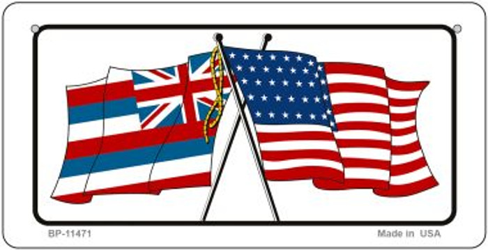 Hawaii / USA Flag Novelty Metal Bicycle Plate BP-11471