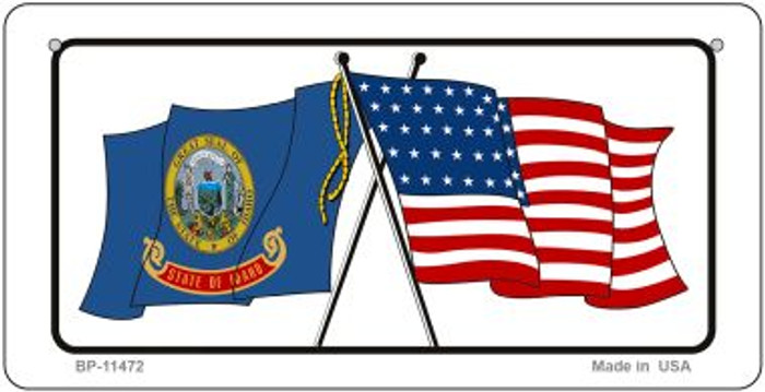 Idaho / USA Flag Novelty Metal Bicycle Plate BP-11472