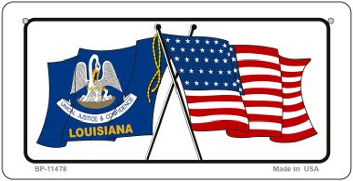 Louisiana / USA Flag Novelty Metal Bicycle Plate BP-11478