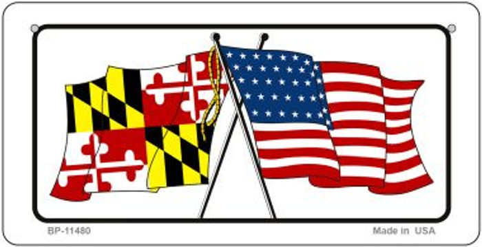 Maryland / USA Flag Novelty Metal Bicycle Plate BP-11480