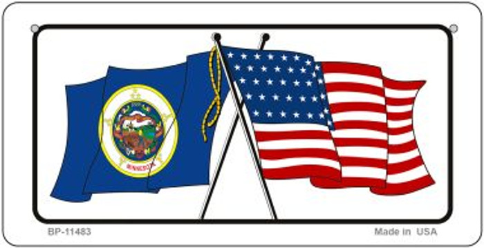 Minnesota / USA Flag Novelty Metal Bicycle Plate BP-11483