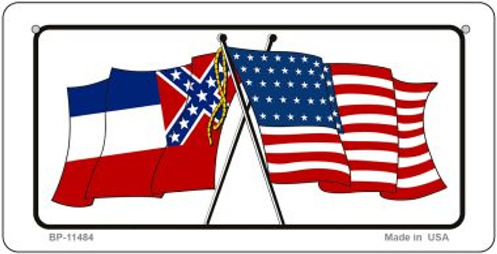 Mississippi / USA Flag Novelty Metal Bicycle Plate BP-11484