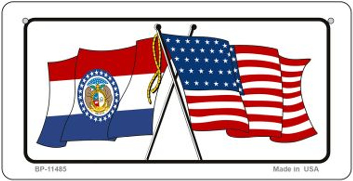 Missouri / USA Flag Novelty Metal Bicycle Plate BP-11485
