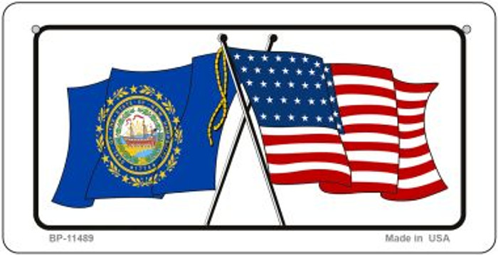 New Hampshire / USA Flag Novelty Metal Bicycle Plate BP-11489