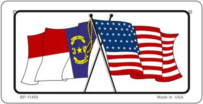 North Carolina / USA Flag Novelty Metal Bicycle Plate BP-11493