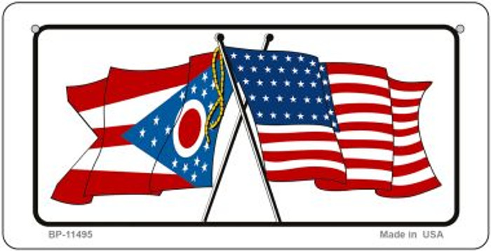 Ohio / USA Flag Novelty Metal Bicycle Plate BP-11495