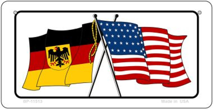 Germany / USA Flag Novelty Metal Bicycle Plate BP-11513