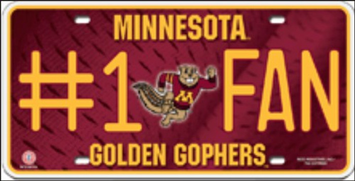 Minnesota Fan Deluxe Metal Novelty License Plate