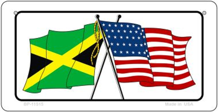 Jamaica / USA Flag Novelty Metal Bicycle Plate BP-11515