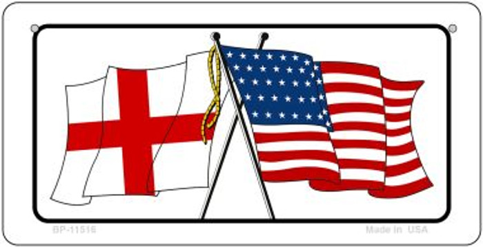 England / USA Flag Novelty Metal Bicycle Plate BP-11516