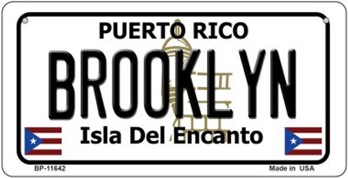 Brooklyn Puerto Rico Novelty Metal Bicycle Plate BP-11642