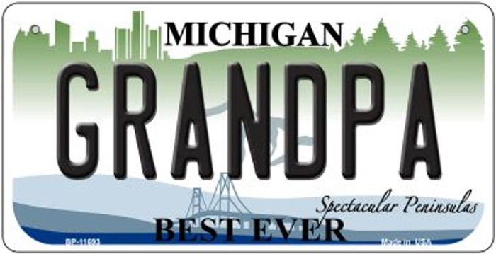 Grandpa Michigan Novelty Metal Bicycle Plate BP-11693