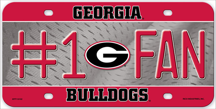Georgia Fan Deluxe Metal Novelty License Plate LP-5522