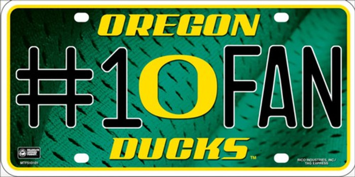Oregon Ducks Fan Deluxe Metal Novelty License Plate