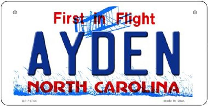 Ayden North Carolina State Novelty Metal Bicycle Plate BP-11744