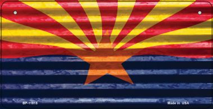 Arizona Flag Corrugated Novelty Metal Bicycle Plate BP-11815