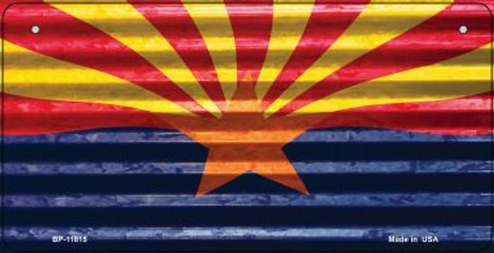 Arizona Flag Corrugated Novelty Metal Bicycle Plate BP-11815