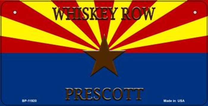 Whiskey Row Prescott Arizona Novelty Metal Bicycle Plate BP-11920