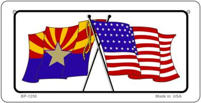 Arizona / USA Flag Novelty Metal Bicycle Plate BP-1250