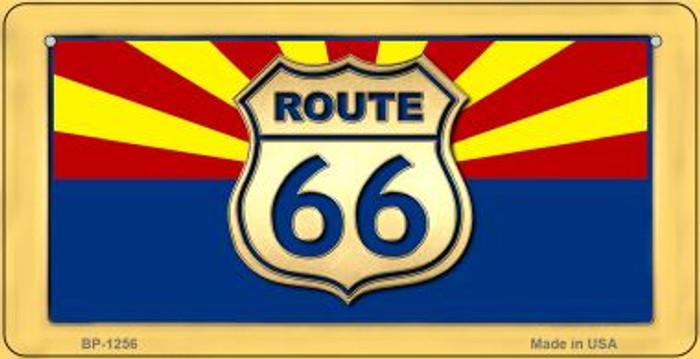RT 66 Arizona Flag Novelty Metal Bicycle Plate BP-1256