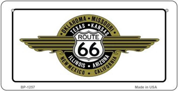 RT 66 Badge Novelty Metal Bicycle Plate BP-1257
