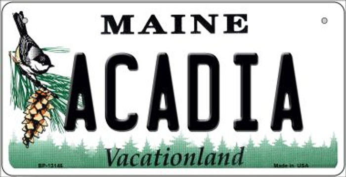 Acadia Maine Novelty Metal Bicycle Plate BP-13146