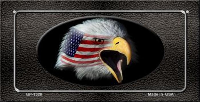 American Eagle Black Novelty Metal Bicycle Plate BP-1320