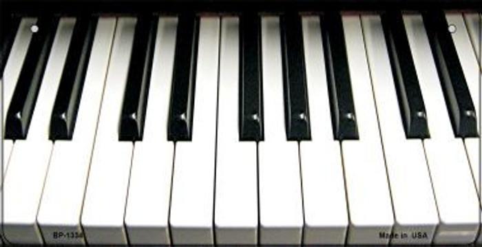 Piano Keyboard Novelty Metal Bicycle Plate BP-1334