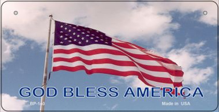 God Bless America Novelty Metal Bicycle Plate BP-140