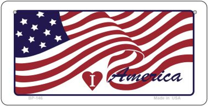 I Love America Novelty Metal Bicycle Plate BP-146
