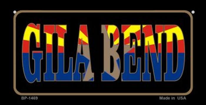 Gila Bend Arizona With Flag Novelty Metal Bicycle Plate BP-1469
