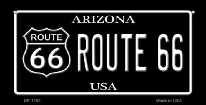 Route 66 Arizona Novelty Metal Bicycle Plate BP-1480