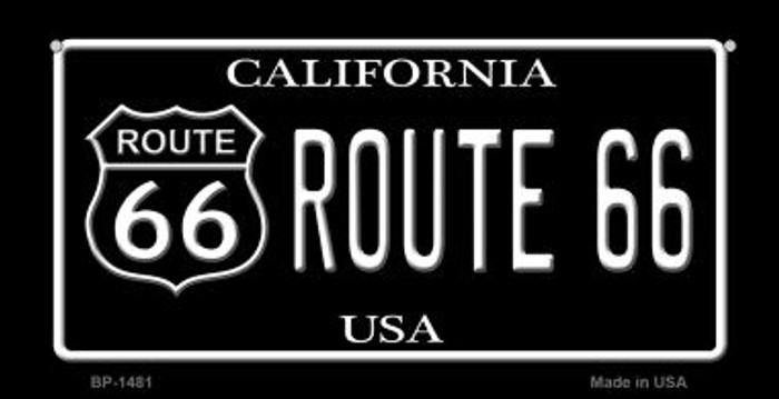 Route 66 California Novelty Metal Bicycle Plate BP-1481