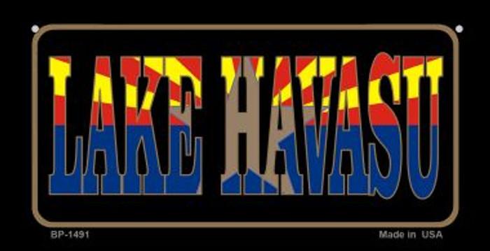 Lake Havasu Arizona With Flag Novelty Metal Bicycle Plate BP-1491