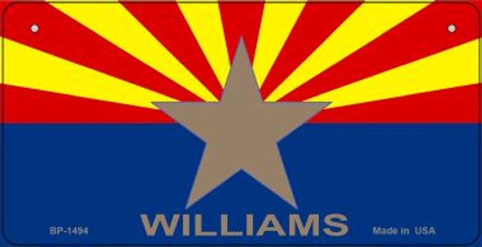 Williams Arizona Flag Novelty Metal Bicycle Plate BP-1494