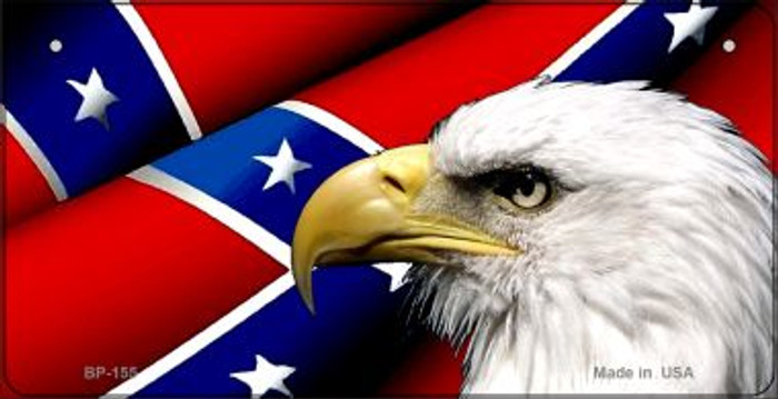Confederate Flag Eagle Novelty Metal Bicycle Plate BP-155