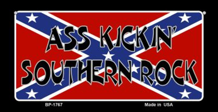 Ass Kickin Southern Rock Novelty Metal Bicycle Plate BP-1767