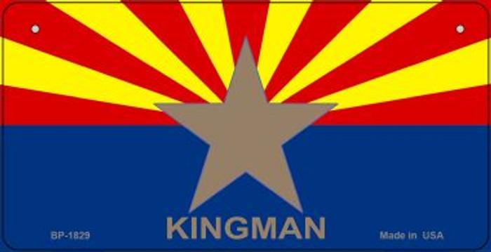 Kingman Arizona Flag Novelty Metal Bicycle Plate BP-1829