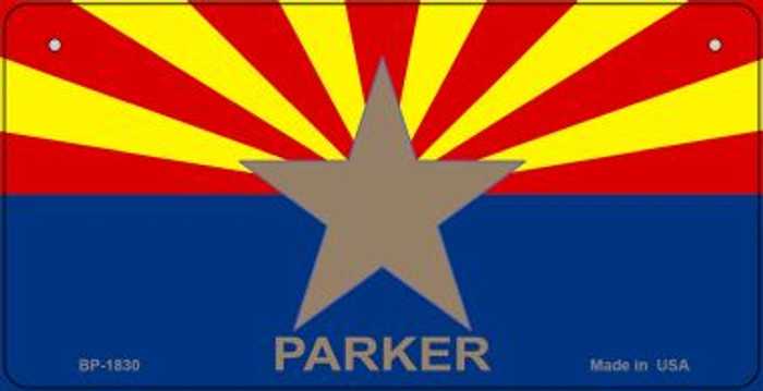 Parker Arizona Flag Novelty Metal Bicycle Plate BP-1830