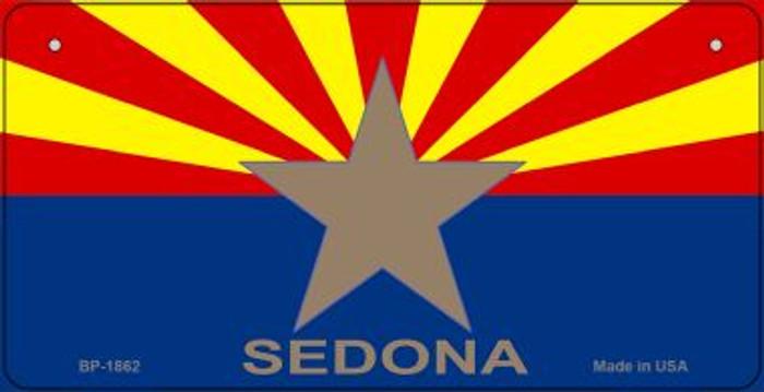 Sedona Arizona Flag Novelty Metal Bicycle Plate BP-1862