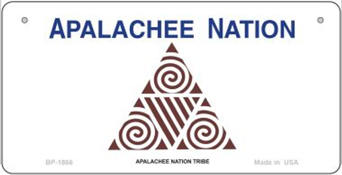 Apalachee Nation Tribe Novelty Metal Bicycle Plate BP-1866