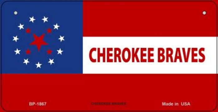 Cherokee Braves Tribe Novelty Metal Bicycle Plate BP-1867