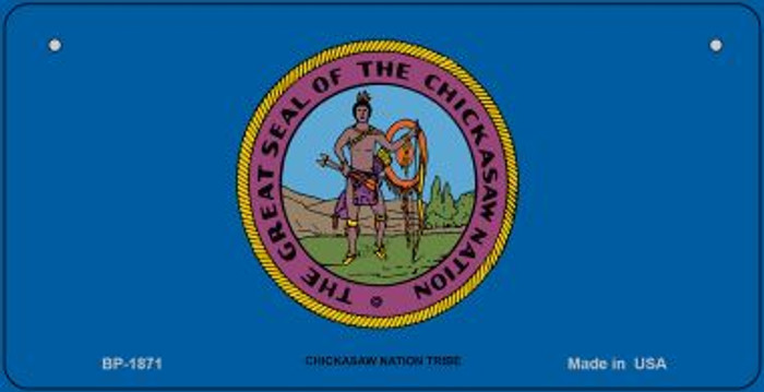 Chickasaw Nation Tribe Novelty Metal Bicycle Plate BP-1871