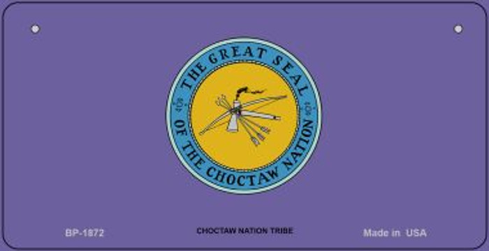Choctaw Nation Tribe Novelty Metal Bicycle Plate BP-1872